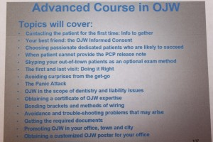 Orthodontic Jaw Wiring for weigh control: advanced course curriculum